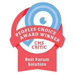 2013 People's Choice Winner for Best Forum Solution