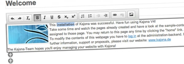 Content Management Framework Kajona released in version 4.1