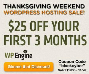 Black Friday WordPress Hosting Deal
