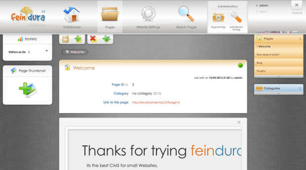 feindura CMS 2.0 has been Released