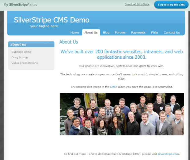 SilverStripe final beta release for CMS and framework