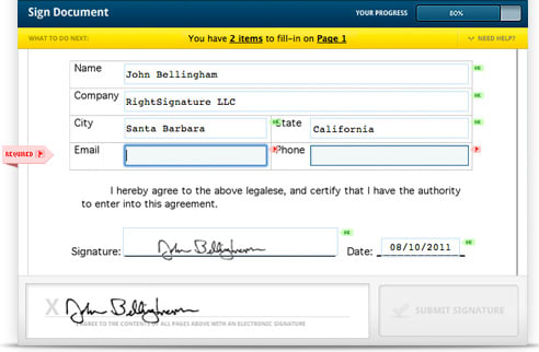 eFileCabinet integrates signature capability via RightSignature