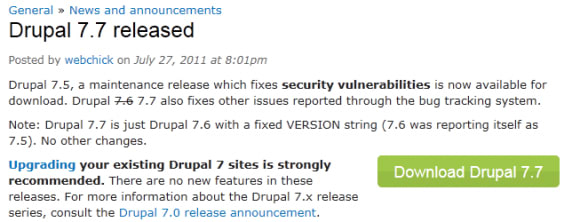 Drupal 7.7 is out (or maybe it's 7.5... or 7.6?)