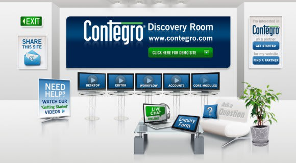 Contegro offers Free Trials through new Discovery Room