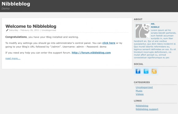 Nibbleblog Review