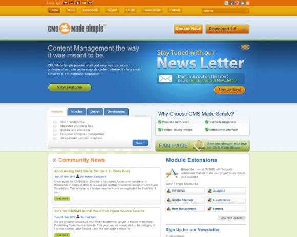 CMS Made Simple wins best Open Source CMS award