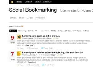 Start your own Social Bookmarking site with Hotaru CMS!