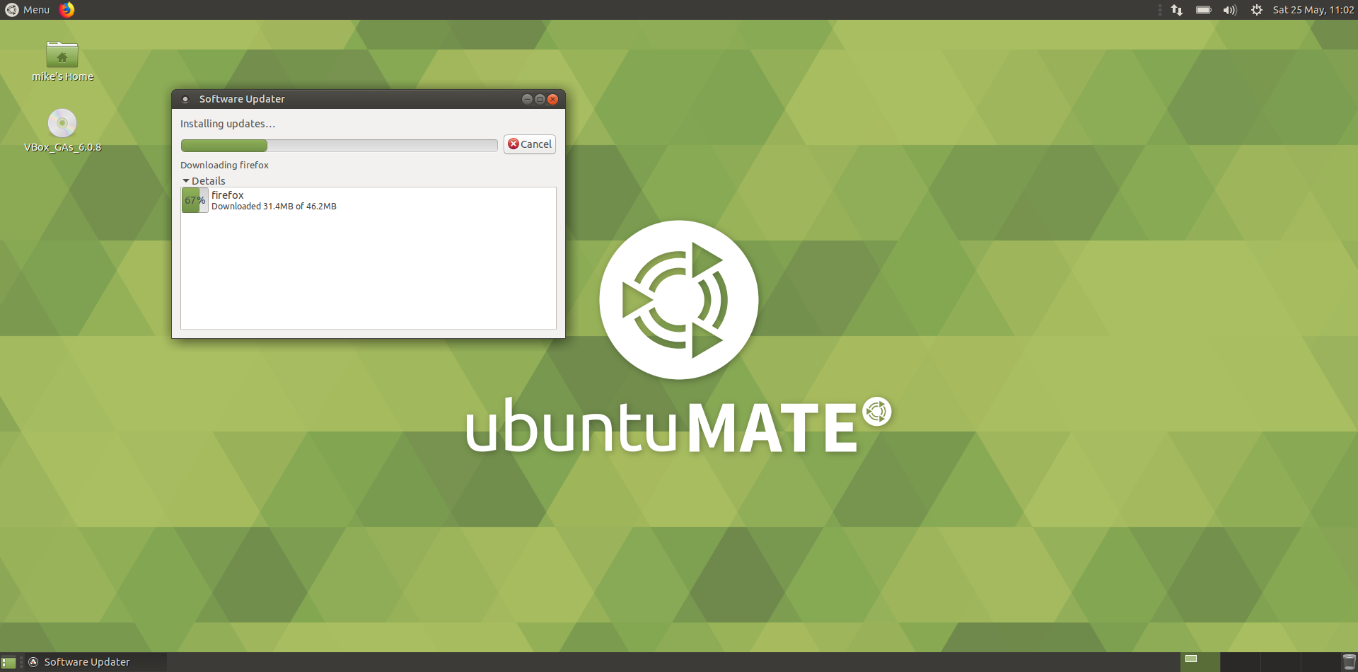 ubuntu mate - 2 - software updater