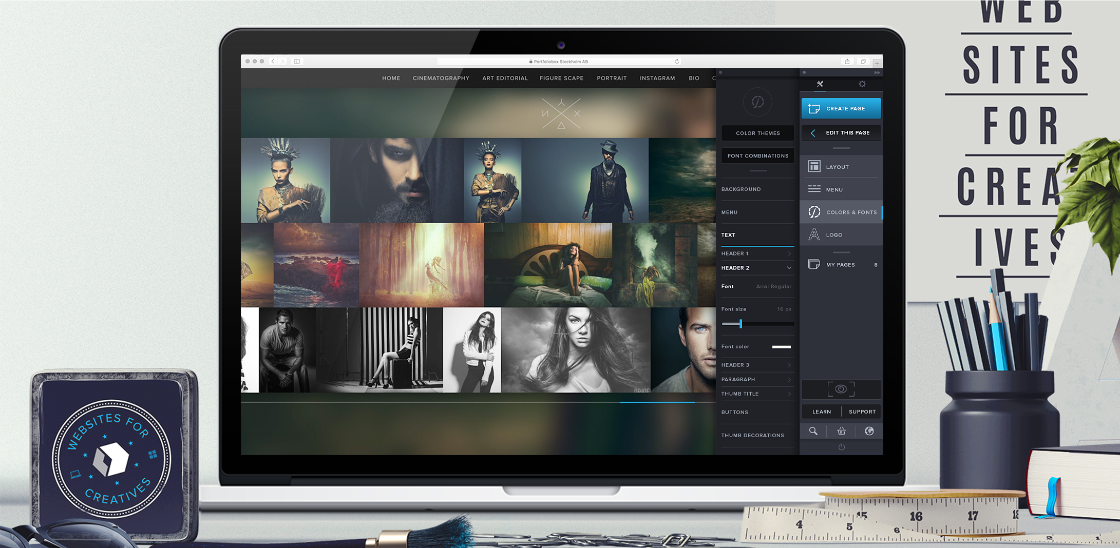 Portfoliobox website builder will now be free for students