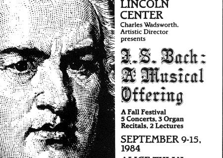 Bach Fall Festival, September 9-15, 1984