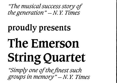 Emerson Quartet plays Beethoven