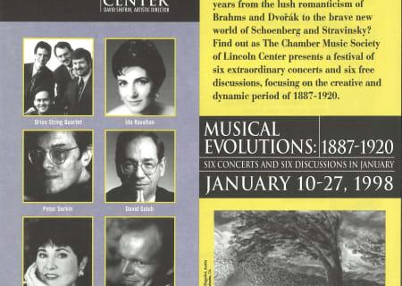 Musical Evolutions: January 10-27, 1998