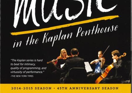 New Music in the Kaplan Penthouse, 2014-15 Season