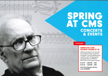 Spring at CMS 2019: Featuring George Crumb at 90 Festival