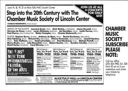 Step into the 20th Century with The Chamber Music Society of Lincoln Center