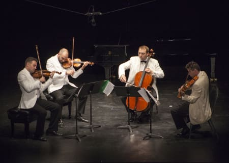 Escher String Quartet (Adam Barnett-Hart, Brendan Speltz, violin; Pierre Lapointe, viola; Brook Speltz, cello)