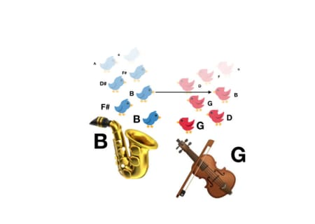11. It is possible for these instruments to play two notes so that some of the overtones of those notes are a perfect match.
