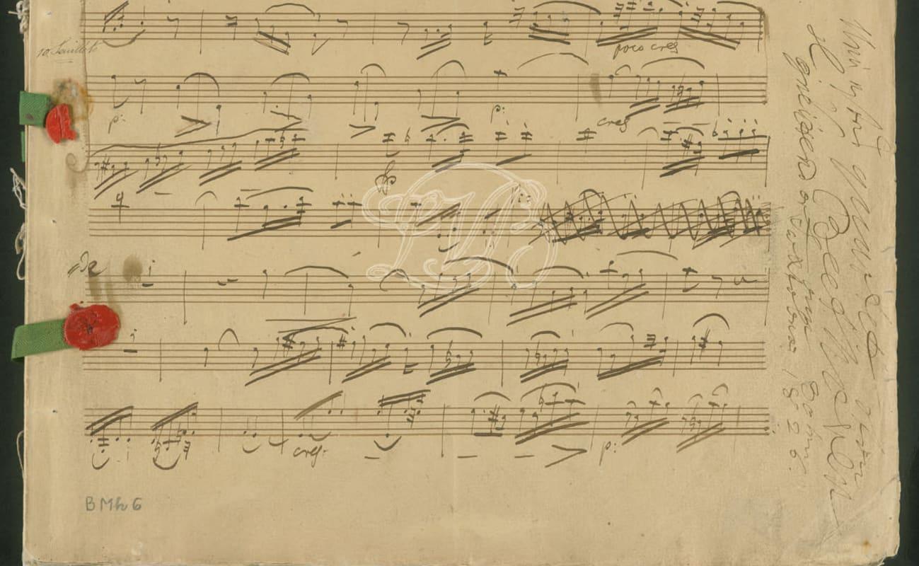 Manuscript score of Op. 135