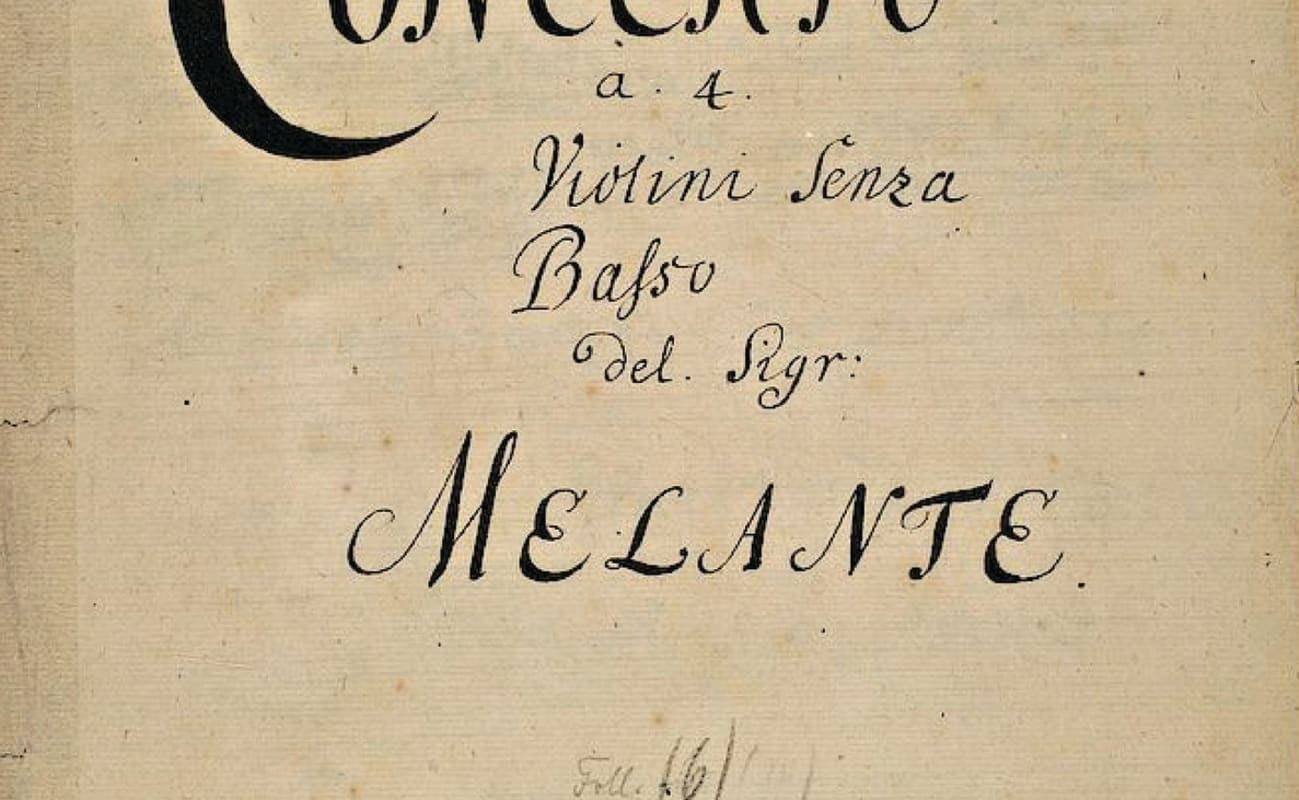 This concerto was originally attributed to 'Melante,' an Italian-inspired anagram that Telemann used in the 1710s and early 1720s.
