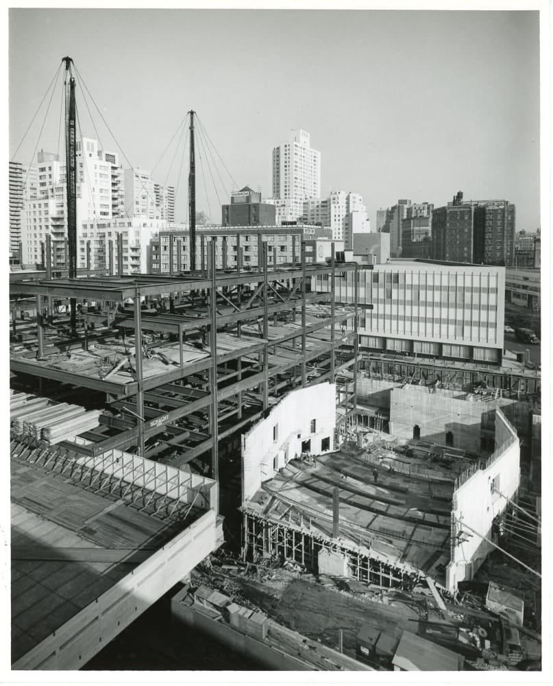 Alice Tully Hall under construction