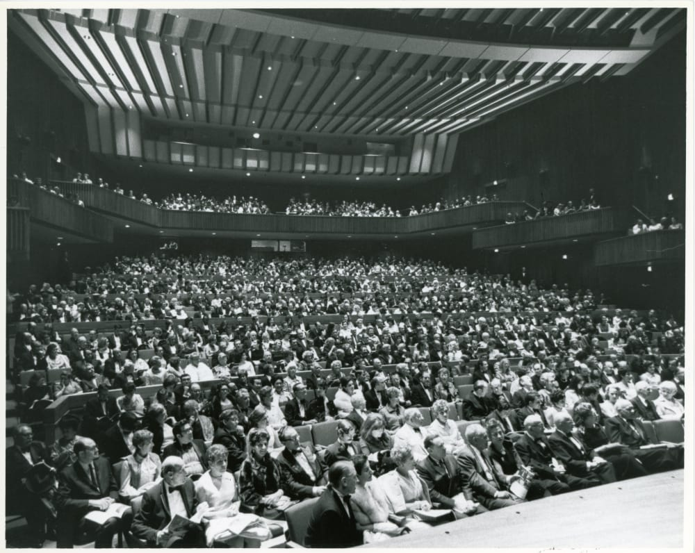 Opening night audience, September 11, 1969.