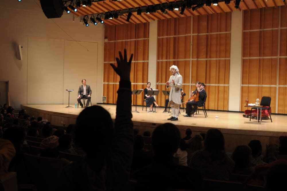 A Chamber Music Beginnings concert with Rami Vamos at Merkin Concert Hall.