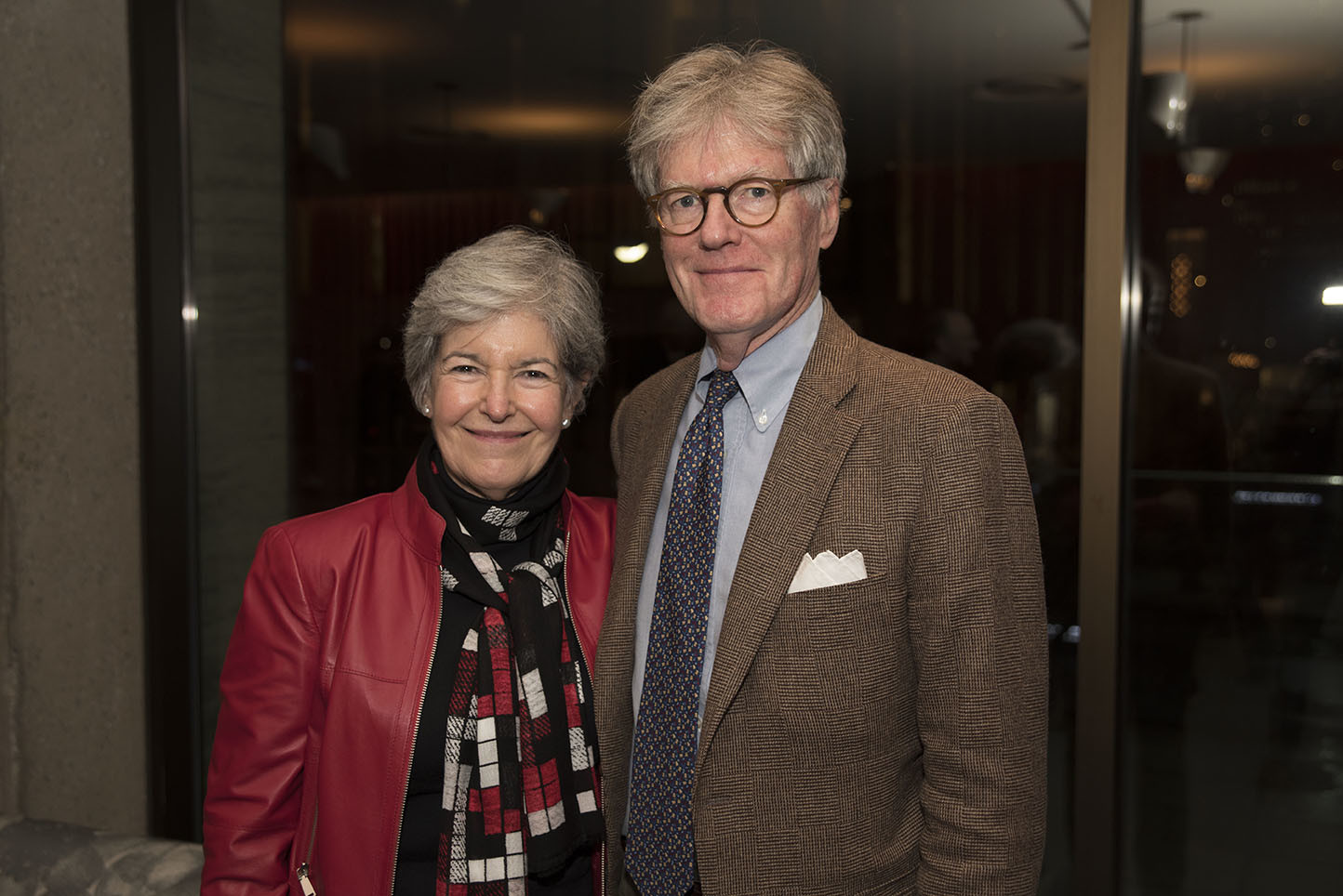 Board member Sally Clement, Stephen Clement