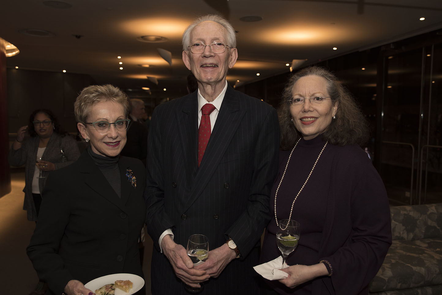 Chloe Kramer, Global Council member Howard Dillon, Nell Dillon-Ermers