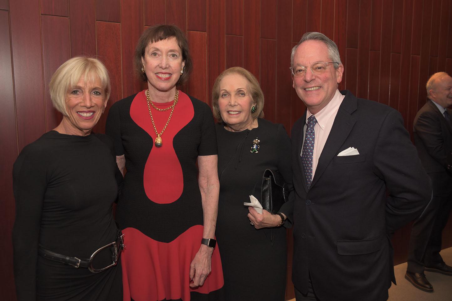 CMS Board member Vicki Kellogg, CMS Executive Director Suzanne Davidson, Alice Netter, Ken Wyse
