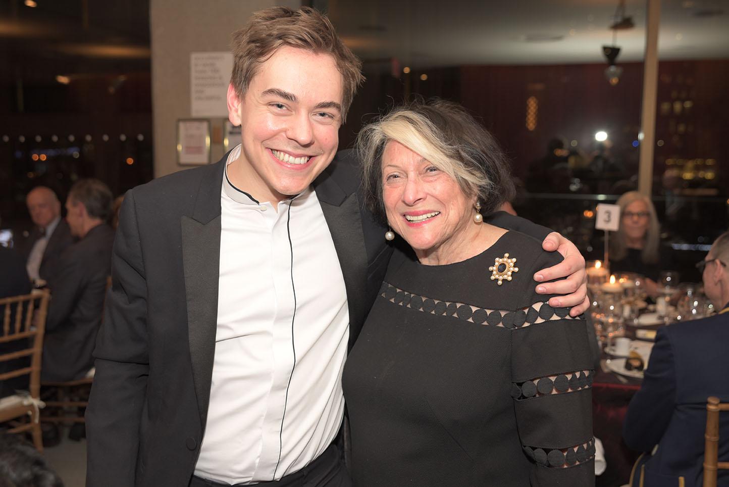 Matthew Lipman, CMS Board member Phyllis Grann