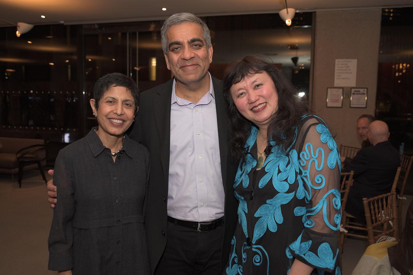 Anju and Deepak Narula, CMS Artistic Director Wu Han