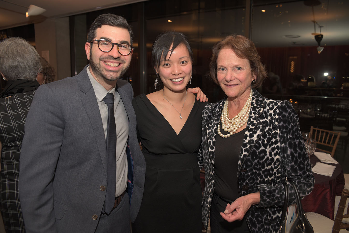 Michael Brown, Jessica Tong, CMS Board member Kathe Williamson