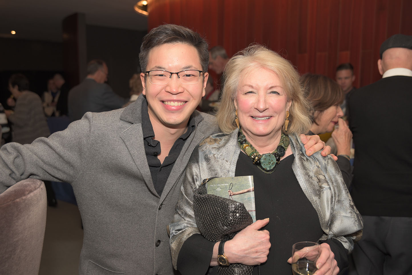 Paul Huang, CMS Board member Helen Brown Levine