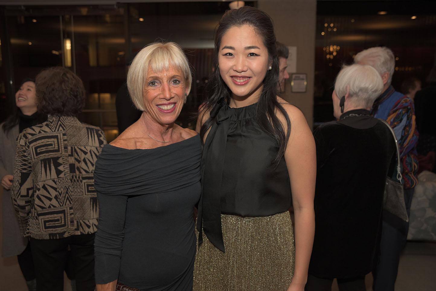 CMS Board member Vicki Kellogg, Kristin Lee