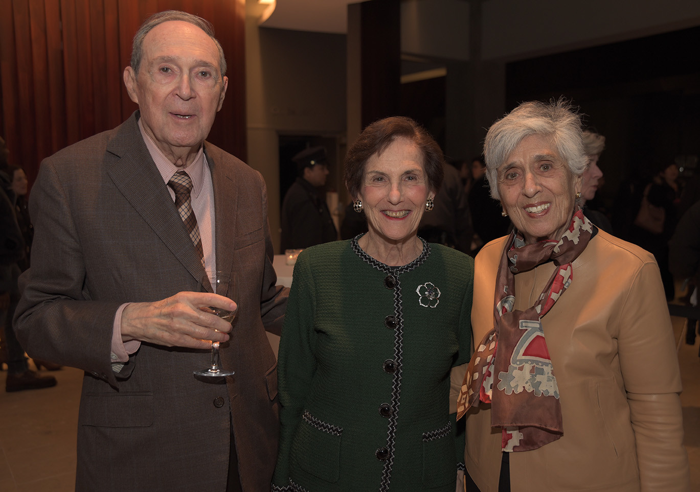 Gus and Rita Hauser, Joan Harris