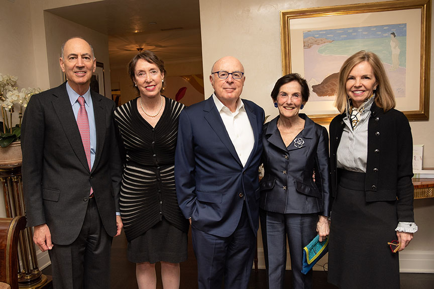 Ken Wallach, Executive Director Suzanne Davidson, Bart Friedman, Rita Hauser, Board member Linda Daines