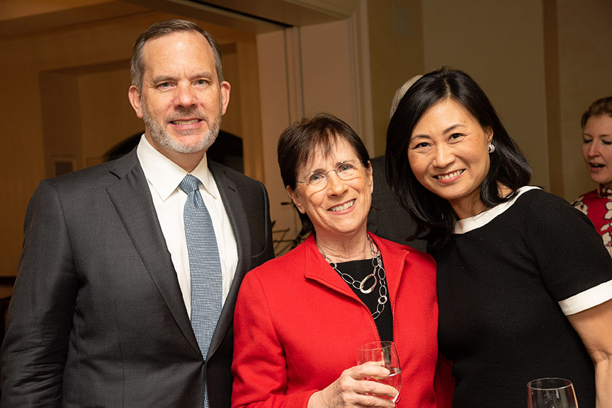 Andrew Hoover, Board member Susan Wallach, Board Chair Elinor Hoover