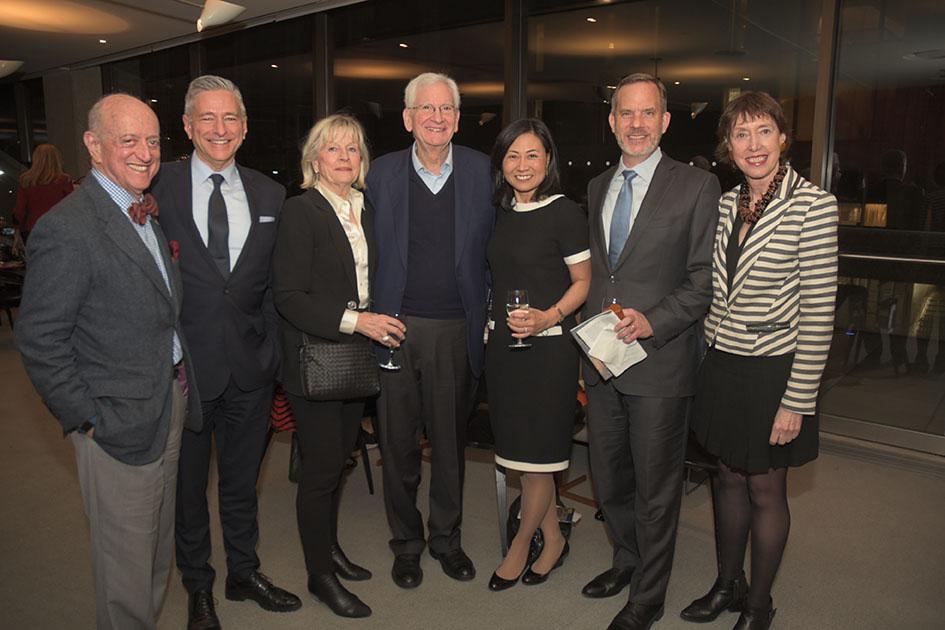 Earl Weiner, Vin Cipolla, Inger Ginsberg, Board member William Ginsberg, Elinor Hoover, Andrew Hoover, Suzanne Davidson