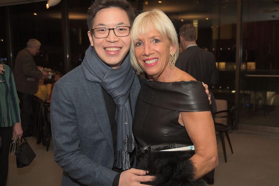 Paul Huang, Board member Vicki Kellogg