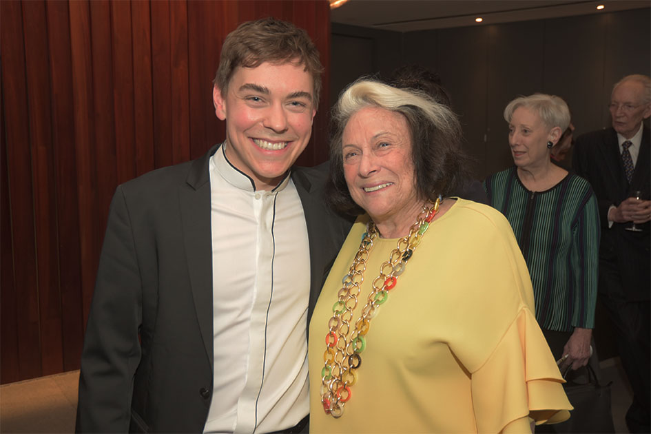 Matthew Lipman, Board member Phyllis Grann