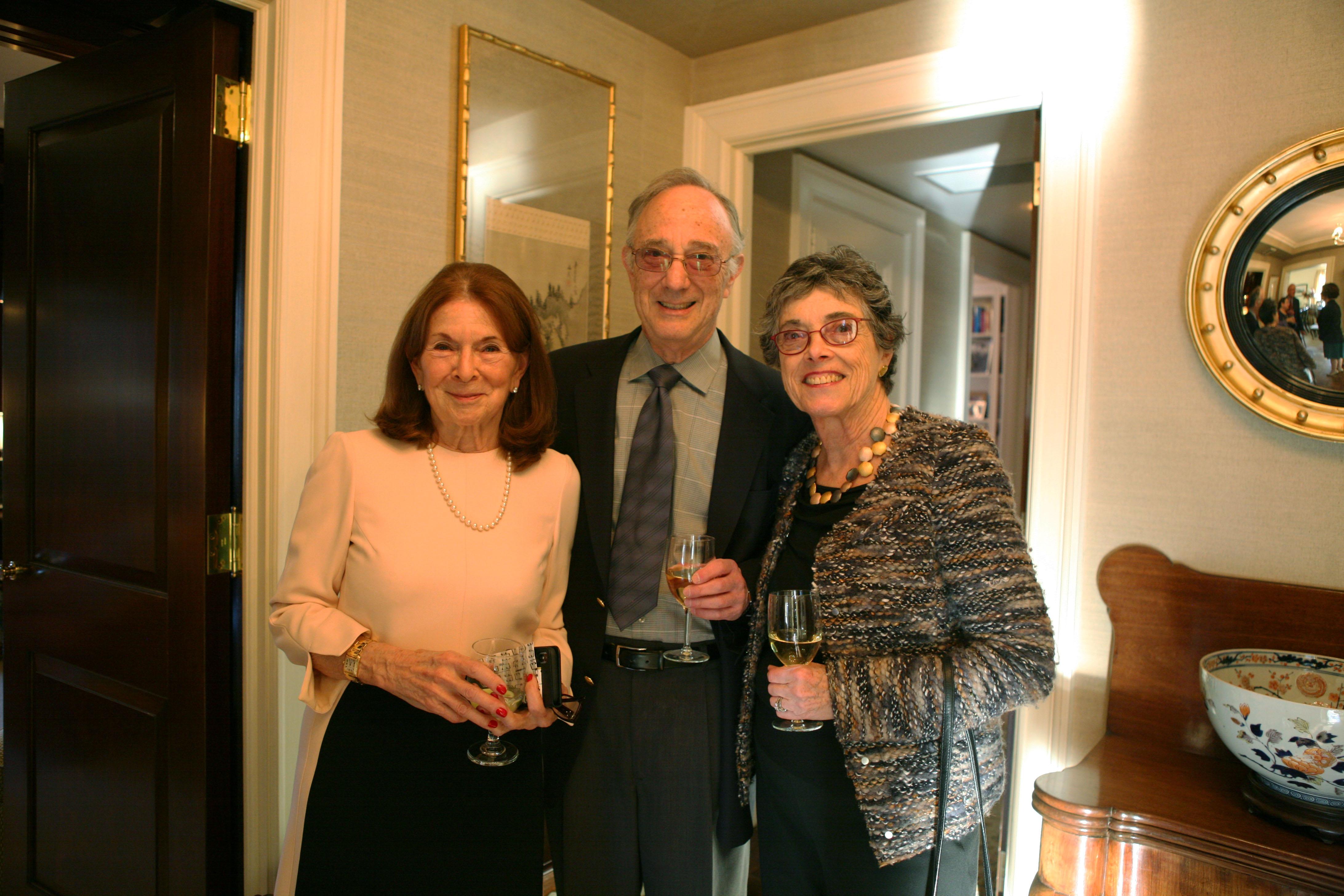 Priscilla Kauff, Jonathan Brezin, Global Council member Linda Keen