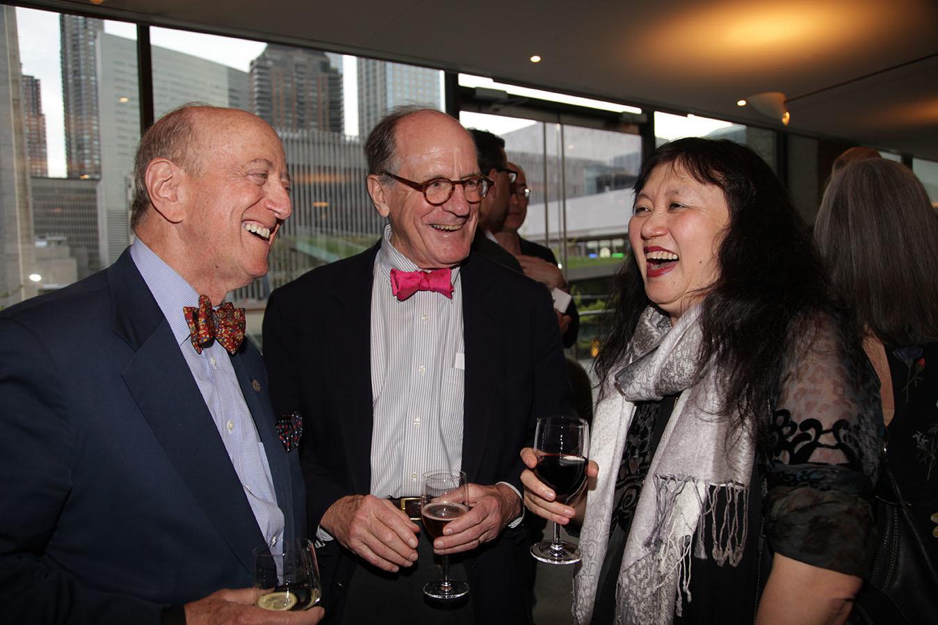 Earl Weiner, Edwin Williamson, CMS Artistic Director Wu Han