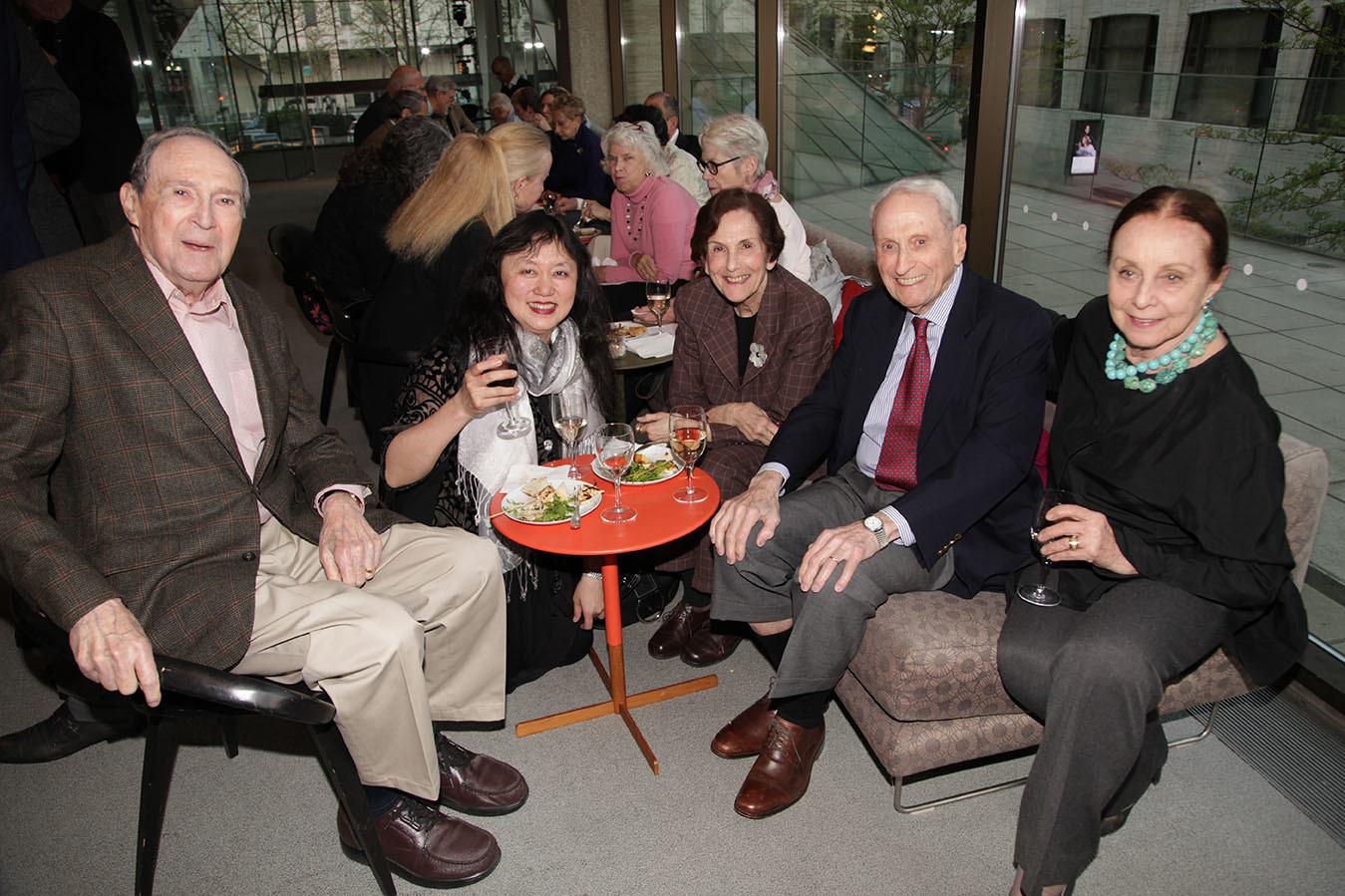 Gus Hauser, Wu Han, Rita Hauser, CMS Board member Herbert Schlosser, Judith Schlosser