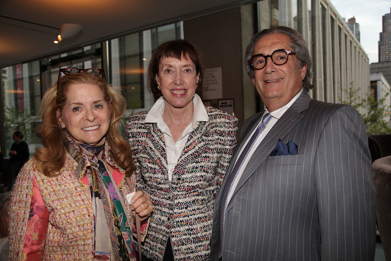 CMS Board member Beth Sackler, CMS Executive Director Suzanne Davidson, Jeffrey Cohen