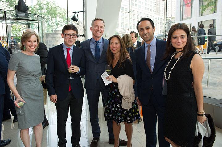 Annelei Thesseling, Julian Thesseling, Board member Joost Thesseling, Maureen Thesseling, Mohammed and Nageen Ansari