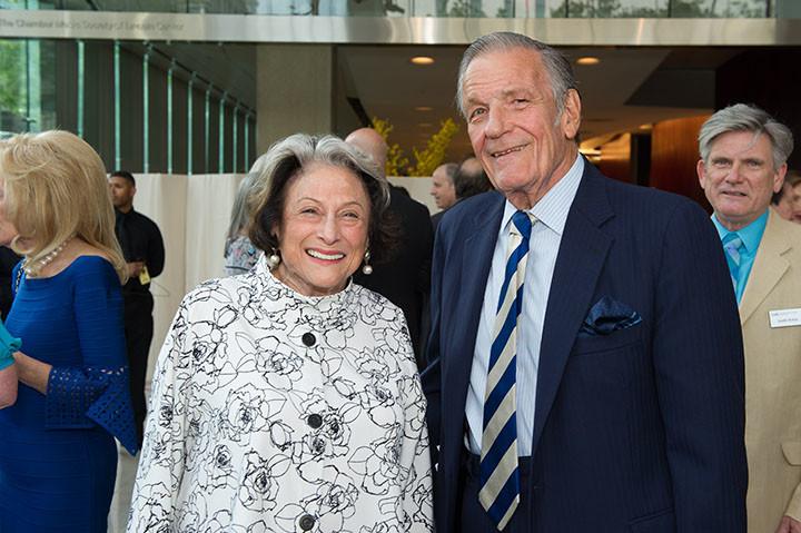 Board member Phyllis Grann, Peter Duchin