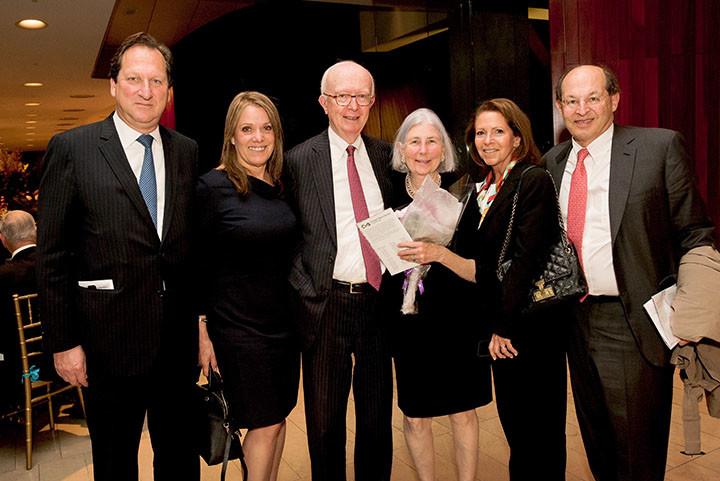 Barry and Lilia Bloom, Board Secretary Peter Keegan, Jane Keegan, Gail Harris, Board member Walter Harris