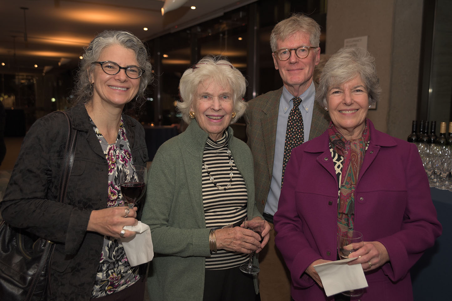 Ann Buttrick, Lynden Miller, Stephen Clement, Board member Sally Clement