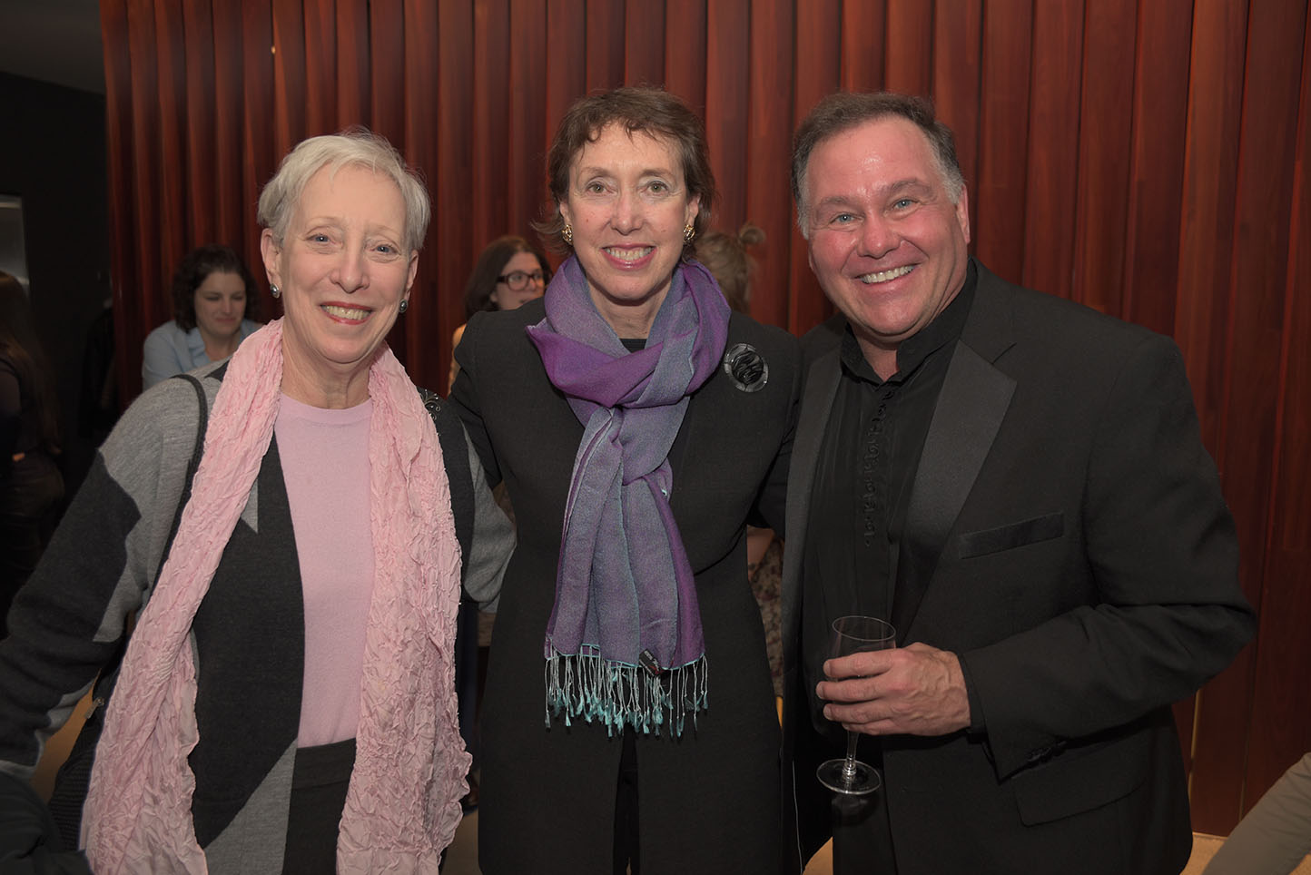 Global Council member Carole Donlin, Executive Director Suzanne Davidson, Keith Robinson