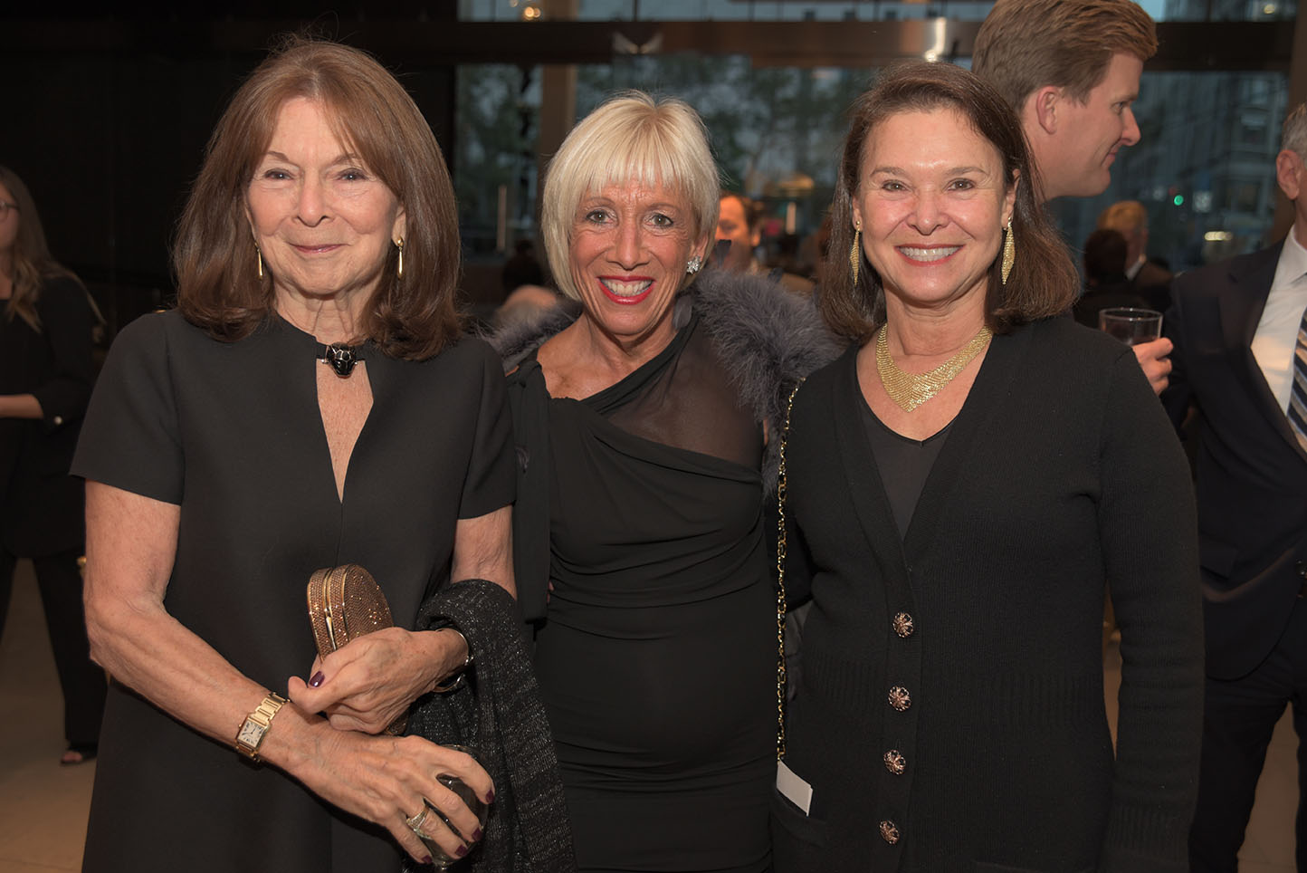 Board members Priscilla Kauff and Vicki Kellogg, Lynn Tishman